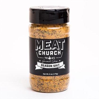 Meat Church BBQ Seasoning, Gourmet Season Salt, 4.6 oz