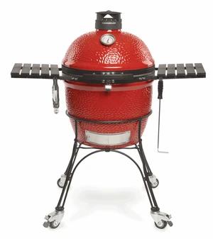 Kamado Joe,ClassicJoe II Red w/Cart, Side Shelves, Heat Deflect & Tools w/KJ-CBH