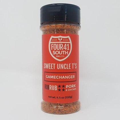 Four 41 South Rub, Sweet Uncle T's Gamechanger Rib Rub, 4.6 oz