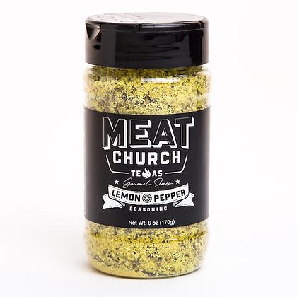 Meat Church BBQ Seasoning, Gourmet Lemon Pepper (6 oz)