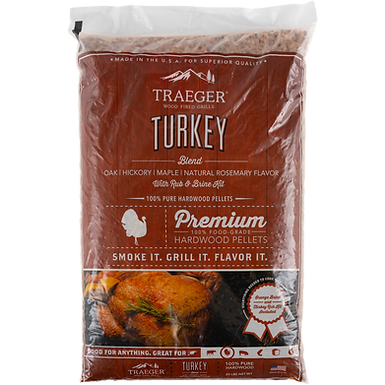 Traeger Pellets, Turkey Blend w/ Brine Kit, 20 lbs