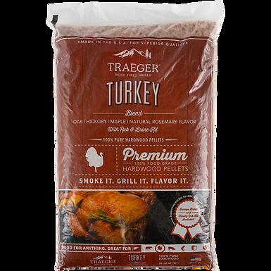 Traeger Pellets, Turkey Blend w/ Brine Kit, 20 lbs