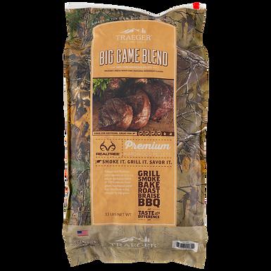 Traeger Pellets, Big Game Blend, 33 lbs (Red & White Oak w/ Rosemary Herbs)