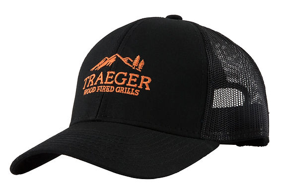 Traeger Hat, Black Trucker, Adjustable