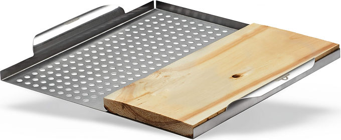Napoleon Stainless Steel Multi Functional Topper w/ Cedar Plank