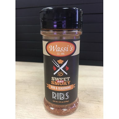 Wassi's Sweet & Smokey  Rib Rub, 4.6 oz