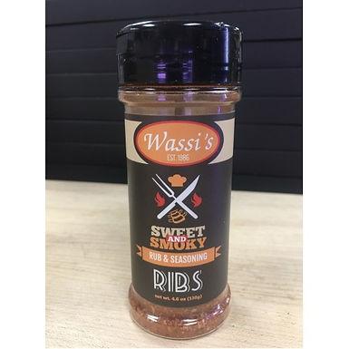 Wassi's Sweet & Smokey  Rib Rub, 4.6 oz