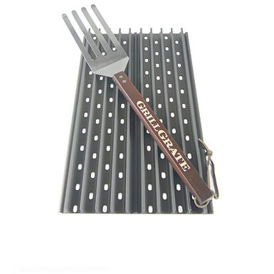 "GrillGrate Rectangular Grill Sets (Two 17.375"" panels)"