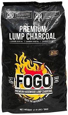 Fogo Premium Hardwood Lump Charcoal, Black, 17.6 lb