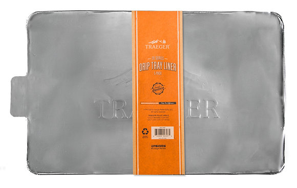 Traeger Drip Tray Liners, 5-Pack (20 Series)