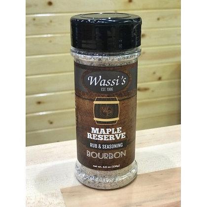 Wassi's Maple Reserve Rub & Seasoning, 4.6 oz