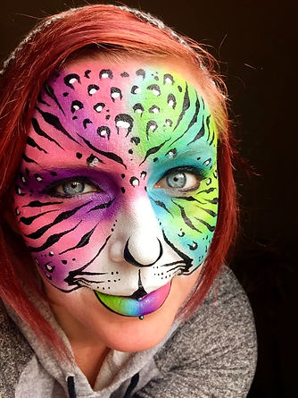 Rainbow Fantasy Tiger Face Painting