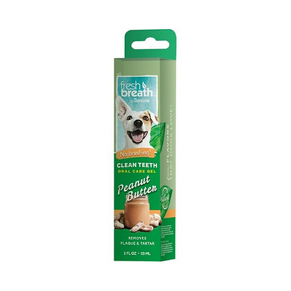 Clean teeth oral care gel with peanut butter