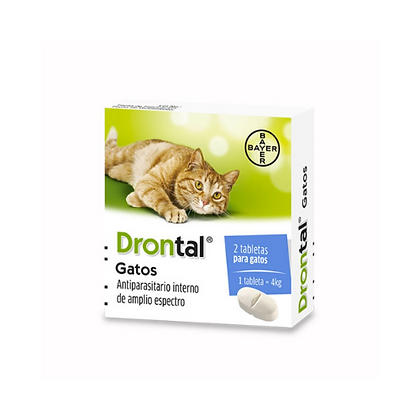 Drontal antiparasitario interno para gatos