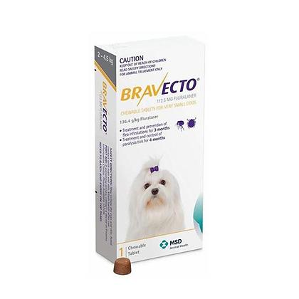 Bravecto antipulgas para perros de 2 a 4.5 kg