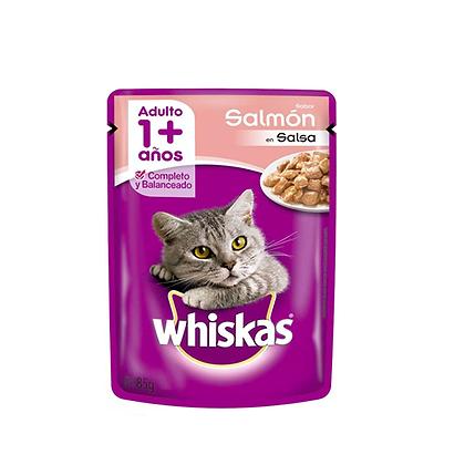 Whiskas alimento humedo gatos sabor a salmón x 85gr