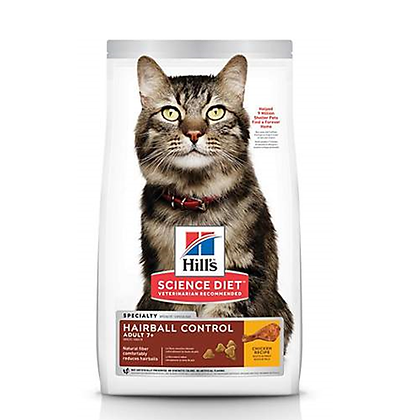 Hills science diet adult hairball control 7+