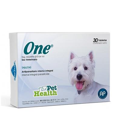One tabletas antiparasitario interno para perros