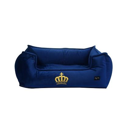 Cama para mascotas luxury azul