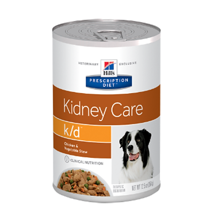 Hills lata k/d kidney care chicken and vegetables x 370gr