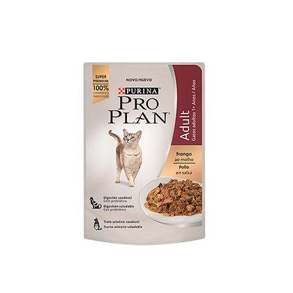Pro plan alimento humedo gatos adultos receta pollo en salsa 85 g