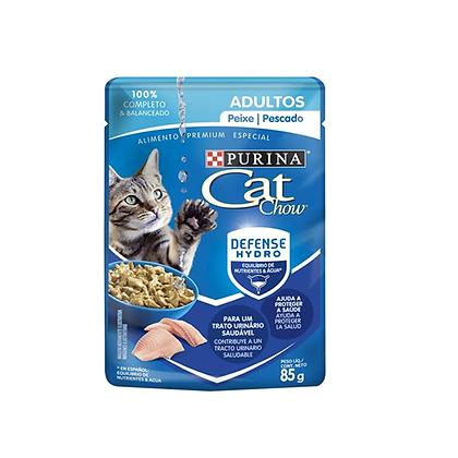 Cat chow alimento humedo gatos adultos sabor a pescado x 85gr