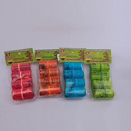 Bolsas biodegradables x 4 rollos