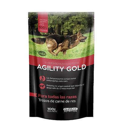 Agility gold adultos trozos de carne de res