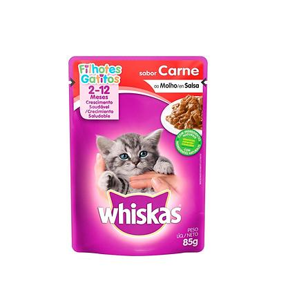 Whiskas alimento humedo gatitos sabor a carne x 85gr