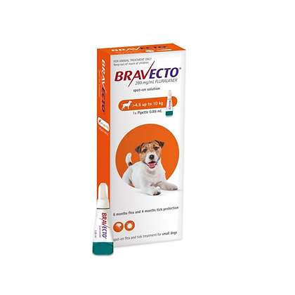 Bravecto spot on pipeta 4.5-10kg