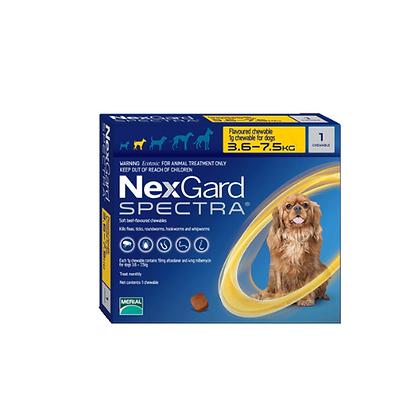 Nexgard spectra antipulgas para perros de 3.5 a 7.5 kg