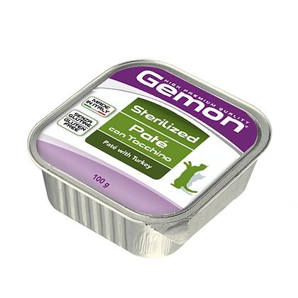 Gemon alimento húmedo gatos esterilizados receta pavo 85 g