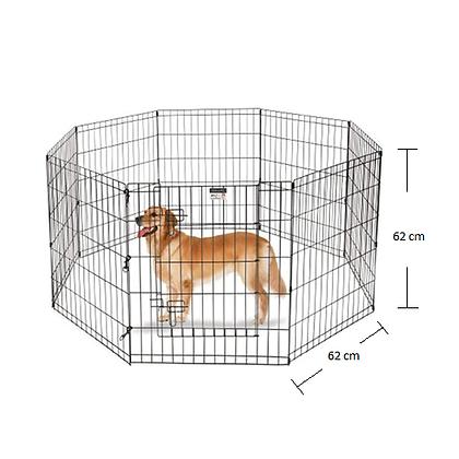 Corral para perro con puerta de 6 piezas
