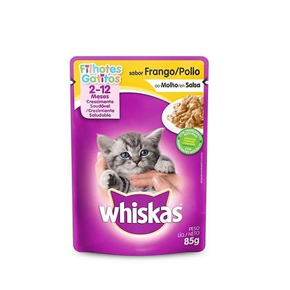 Whiskas alimento humedo gatitos sabor a pollo x 85gr