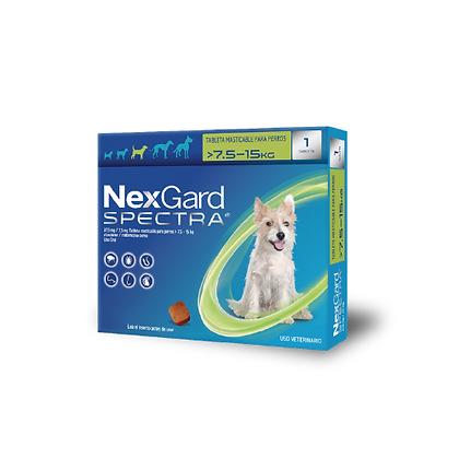 Nexgard spectra antipulgas para perros de 7.5 a 15 kg