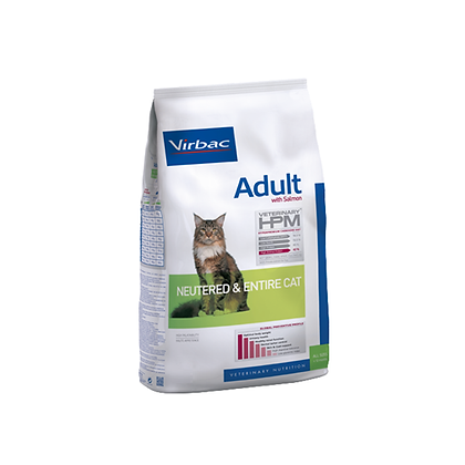 Veterinary hpm adult neutered & entire cat with salmon