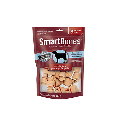 Smartbones chicken mini x 8 unidades