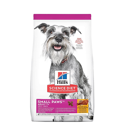 Hills science diet adult 7+ small paws chicken