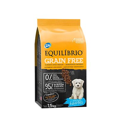 Equilibrio cachorros grain free razas miniatura x 1.5 kg