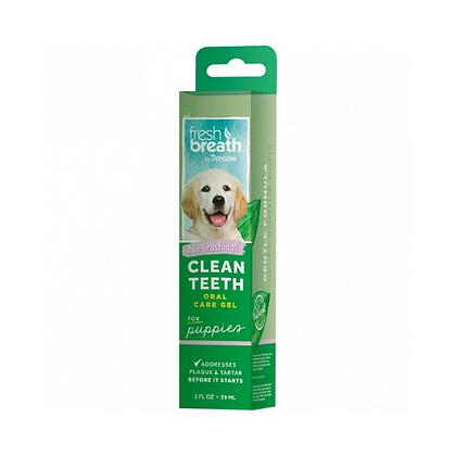 Clean teeth oral care gel puppies