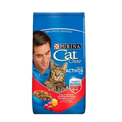 Cat chow adultos activos carne