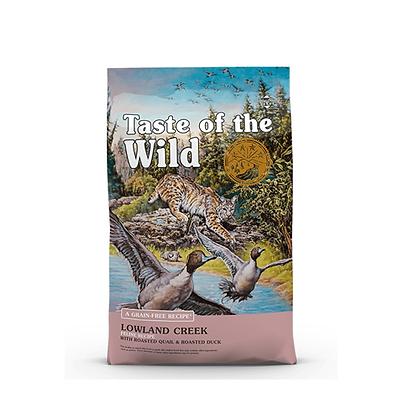 Taste of the wild para gatos receta codorniz y pato