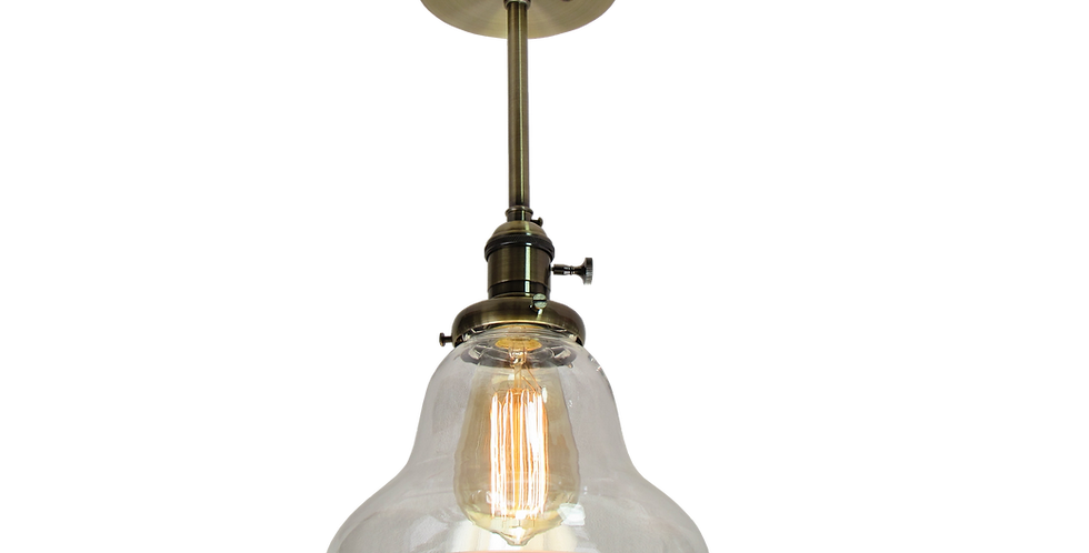 Shallow Industrial Ceiling Light