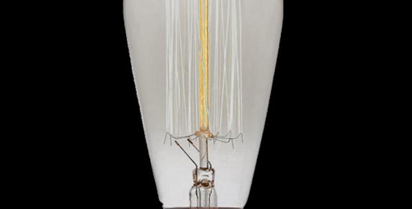 Teardrop Filament Light Bulb