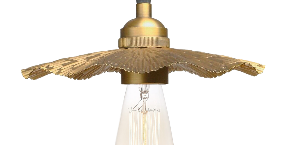 Radiance Textured Brass Metal Lampshade Pendant