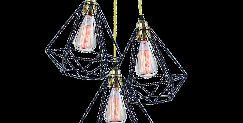 Diamond Cage Cluster Pendant