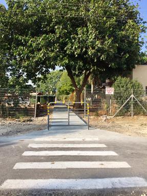 שביל ומעבר חצייה חדש לבית ספר רימון