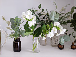 Miniature Vases in Natural Green & Soft
