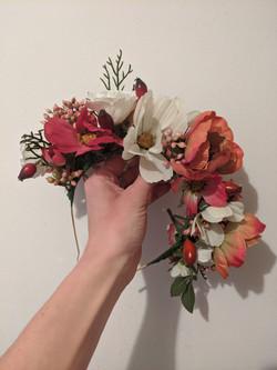 Faux Flower Floral Headpiece