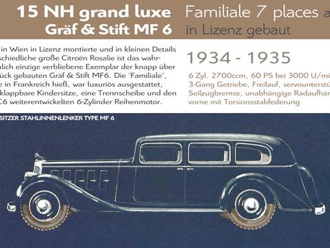 1934 - 1935   Gräf & Stift MF6 (Citroën 15NH)